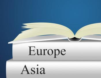 Europe Books Indicates Travel Guide And Asian
