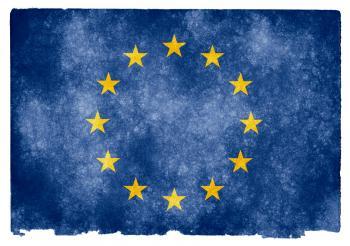 European Union Grunge Flag
