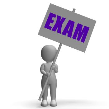 Exam Protest Banner Means Difficult Examinations And Tests