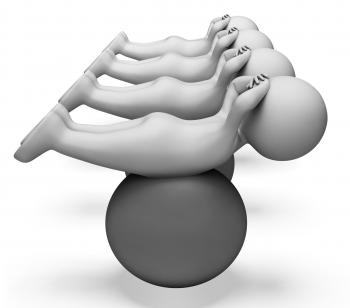 Exercise Ball Represents Get Fit And Exercised 3d Rendering