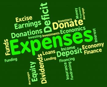 Expenses Word Represents Finances Outlays And Costs