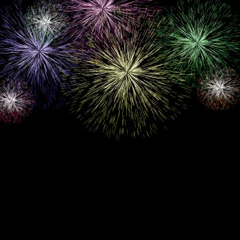 Exploding Fireworks Background For New Years Or Independence Celebrati
