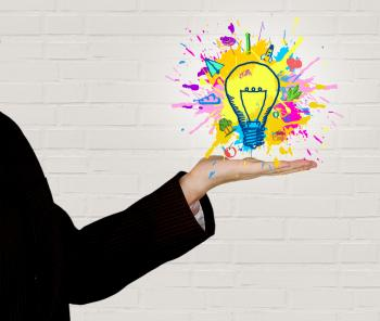 Explosion of Ideas - Person Generating Ideas