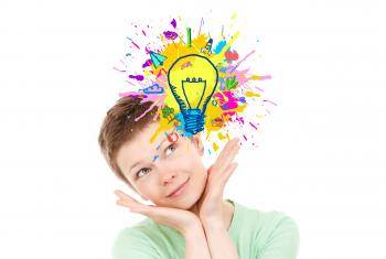 Explosion of Ideas - Woman Generating Ideas