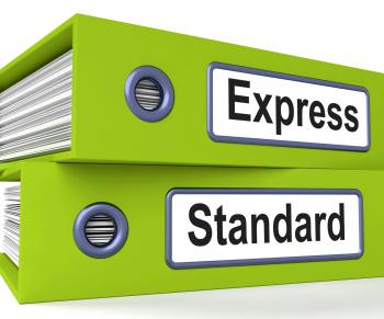 Express Standard Folders Mean Fast Or Regular Delivery