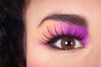Eye close up make up