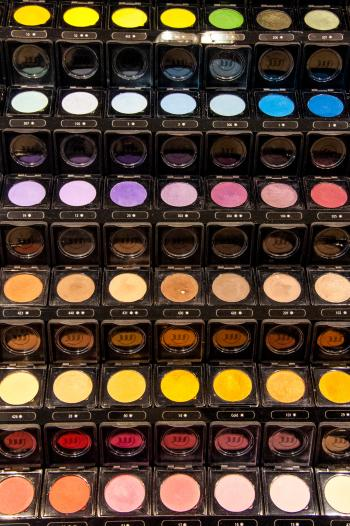 Eye make up cosmetics  display