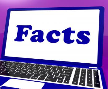 Facts Laptop Shows True Information And Knowledge