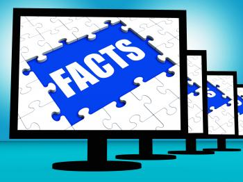 Facts Monitors Shows Data Information Wisdom And Knowledge