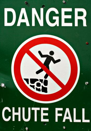 Fall Danger Sign