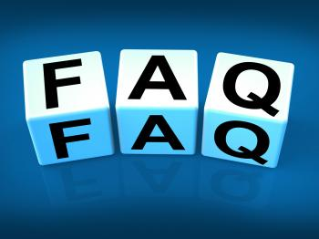 Faq Blocks Indicate Question Answer Information and Advice