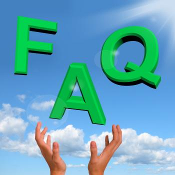 FAQ Letters Falling Showing Information Questions And Answers