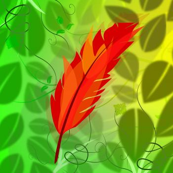 Feather Symbol Indicates Flock Of Birds And Environmental