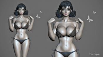 Woman 3D Rendering
