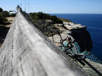 Fence by the cliffs