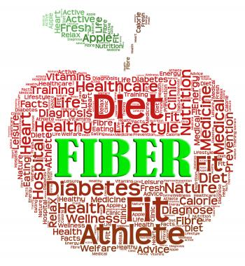 Fiber Apple Shows Organic Dietary And Healthy