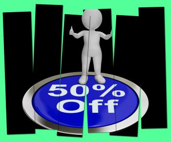 Fifty Percent Off Pressed Shows 50 Price Markdown