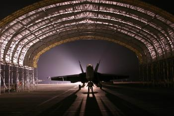 Fighter Jet in the Hangar