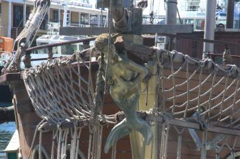 Figure of a mermaid on a ship