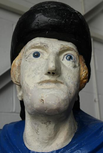 Figurehead from the 'St. George', wrecked in 1889 off Peel, Isle of Man