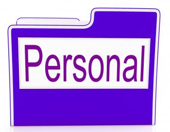 File Personal Means Confidentially Folders And Individually