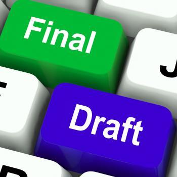 Final Draft Keys Show Editing And Rewriting Document