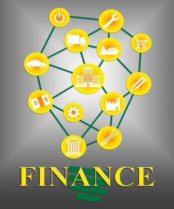 Finance Icons Shows Accounting Financial And Figures