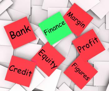 Finance Post-It Note Means Crediting Or Profit