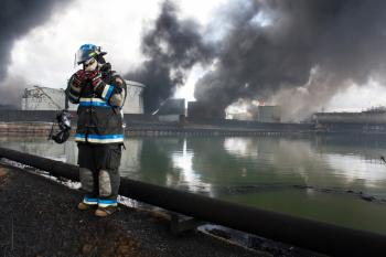 Firefighter on Work