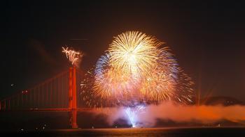 Fireworks on the Bridge