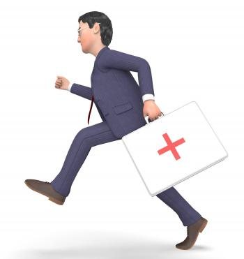 First Aid Indicates General Practitioner And Accident 3d Rendering