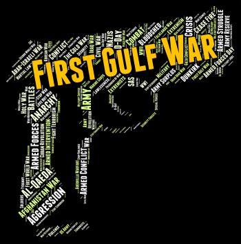 First Gulf War Shows Operation Desert Shield And Clash