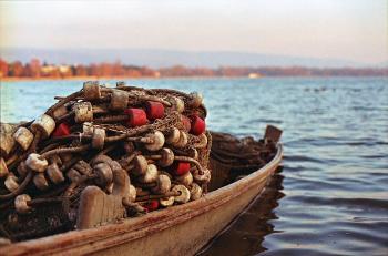 Fishing boat at the Öreg Tó / Halászcsónak az Öreg tavon