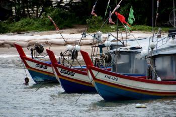 Fishing boats of Malaysia.)