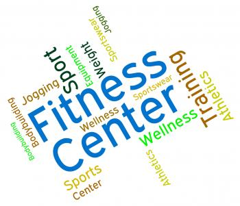 Fitness Center Shows Physical Activity And Athletic