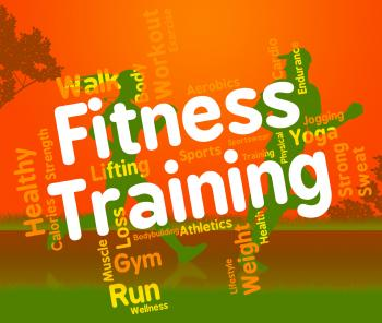Fitness Training Shows Physical Activity And Exercising