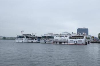 Five river cruise ships