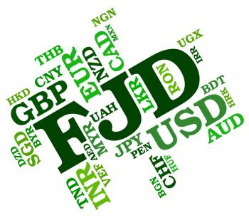 Fjd Currency Indicates Fiji Dollar And Banknotes
