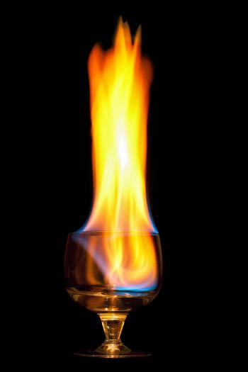 Flaming drink