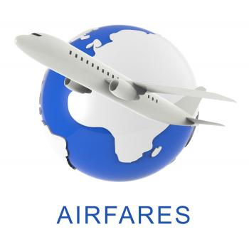 Flight Airfares Means Aircraft Prices And Travel 3d Rendering
