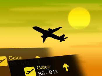 Flight Vacation Shows Vacationing Transportation And Flights