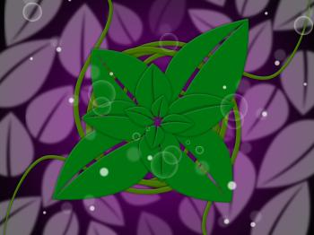 Floral Background Represents Botanic Florist And Design