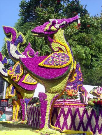 Floral Bird Sculpture