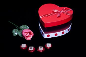 Flower and Chocolates - Love on Valentine's Day