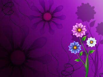 Flowers Background Shows Blooming Growing And Nature