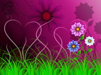Flowers Background Shows Colorful Pretty And Natural World