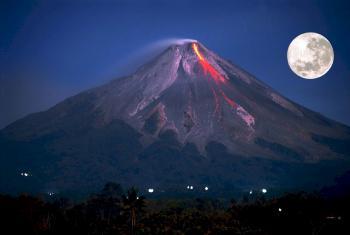 Flowing Volcano