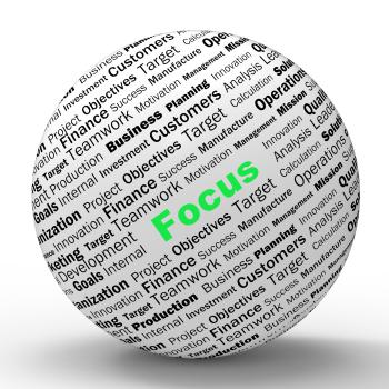 Focus Sphere Definition Shows Concentration And Targeting