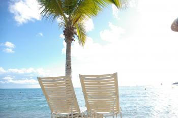 Foldingchairs on beach