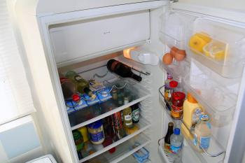 Food inside a fridge